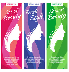abstract banners for beauty and cosmetic vector image vector image