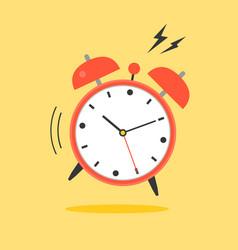 alarm clock ringing wake up time icon vector image