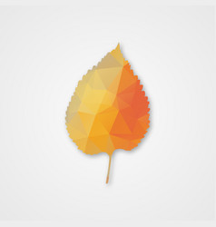 background with autumn leaf of triangles vector image