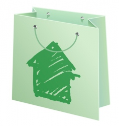 bag with cottage vector image vector image