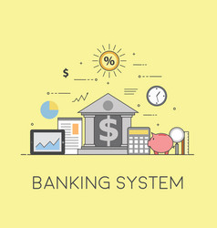banking and business financial market secure vector image