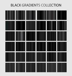 Black color gradients collection dark patterns vector