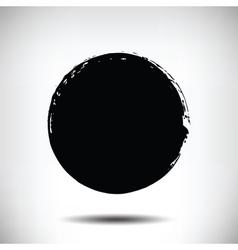 Black grunge circle background vector image vector image