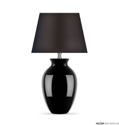 Black table lamp vector image