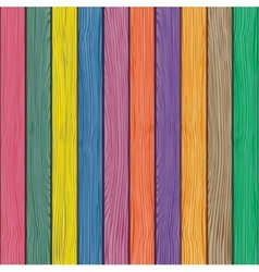 Colored old wooden fence background vector image