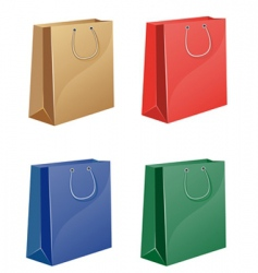 coloured shopping bag vector image