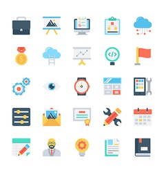 Design and development colored icons 4 vector