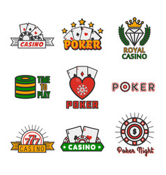 different casino icons vector image vector image