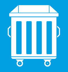Dumpster on wheels icon white vector