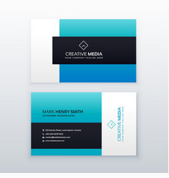 Elegant blue business card design template vector