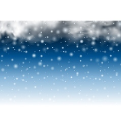 Falling beautiful snow background Snowflakes vector image vector image
