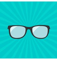 Glasses icon sunburst background vector