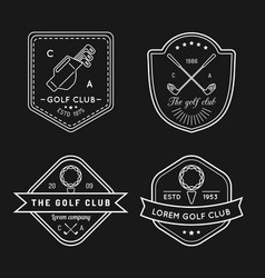 golf logo set sports club linear vector image vector image
