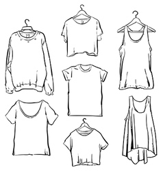 Hand drawn Woman clothing set Fashion collection vector image vector image