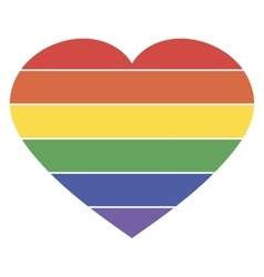 heart rainbow icon lgbt community sign vector image vector image