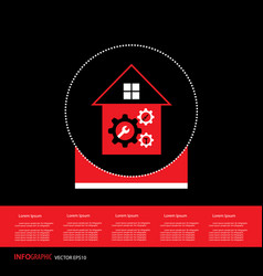 Home repair gear cog symbol vector