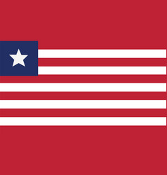 Liberia flag for independence day and infographic vector