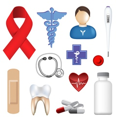 medical objects vector image vector image