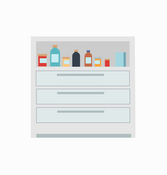medicine drawers medicaments vector image