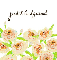Pastel floral background invitation card wedding vector