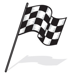 racing flag jedna resize vector image