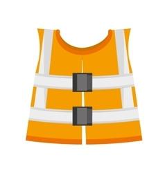 reflective vest safety work vector image