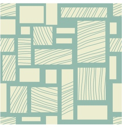 Square retro background vector image