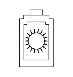 Sun bronzer isolated vector