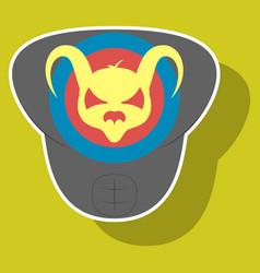 Superhero color sticker badges emblems logos vector