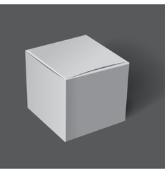 Template white box vector image
