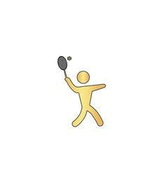tennis computer symbol vector image