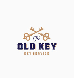 the old key abstract sign symbol or logo vector image vector image