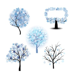 Wiinter Tree Set vector image vector image