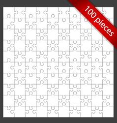 100 puzzle pieces vector