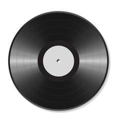 blank vinyl disc vector image