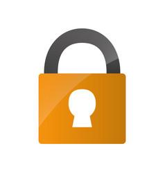 Security padlock icon vector