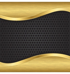 Abstract golden background with metallic grill vector