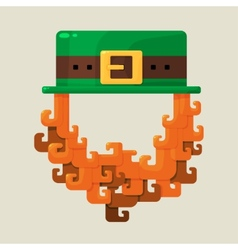Irish st patricks day leprechaun icon vector