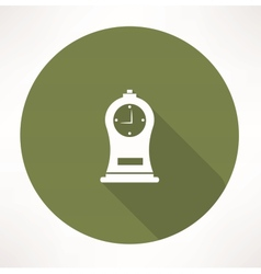 Antique clock icon vector