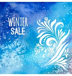 Winter sale background watercolor vector