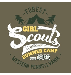 Girl scouts summer camp t-shirt vector