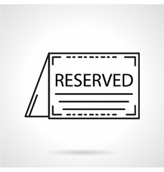 Reserved card black line icon vector
