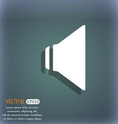 Speaker volume sign icon sound symbol on the vector