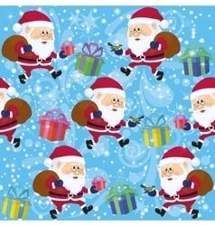 Santa claus seamless vector
