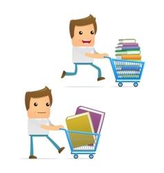 book shopping vector image