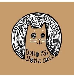 Monster cat Art for t-shirt design vector image