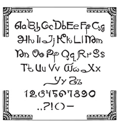 Latin script in the indian style vector