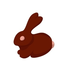 Chocolate easter bunny cartoon icon vector