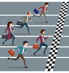 Business people winning marathon vector
