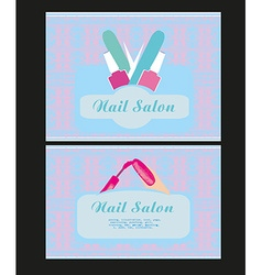Nail salon design of business cards vector